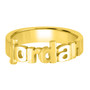 Gold Vermeil Name Ring, Cut Out Name, Block, Ring