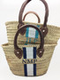 Abby Hand Painted Small Straw Beach Tote