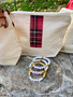 Holiday Plaid Bag and Bracelet Set