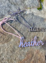 Personalized Acrylic Stocking/Ornament/Gift Name tag