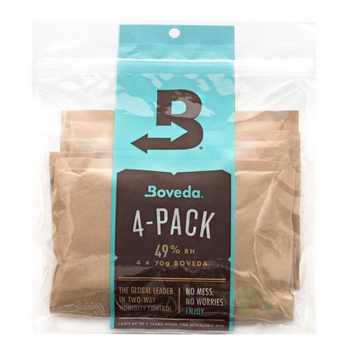 B49-70-4P - Boveda 2-Way Humidity Control - Refill 4-Pack for Wood Instruments - 49% RH, 70g