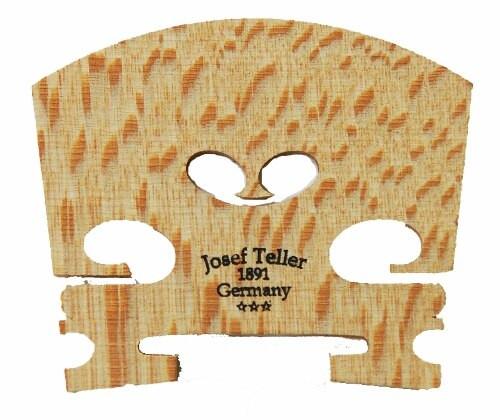 Teller Violin Bridge, Student 3-Star, #42, Unfitted, Ebony Inlay (All Strings)
