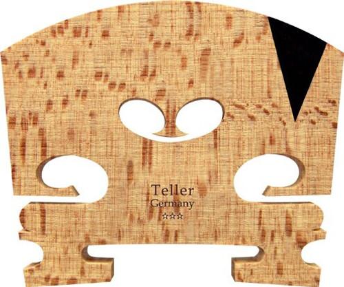 Teller Violin Bridge, Student 3-Star, #42, Fitted, U-Shaped Ebony Inlay (E String)