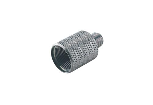 "21600 Zinc Thread Adapter  5/8"" female 3/8"" male thread (Steel, nickel plated)"