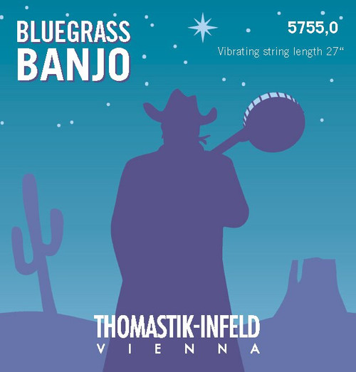 5755.1 - Thomastik Bluegrass Banjo D (I) Ball End
