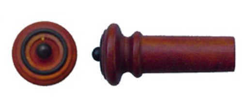 Tempel Violin Endbutton, Boxwood, black ring & button