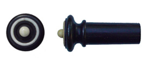 Tempel Violin Endbutton, Ebony, white ring & button