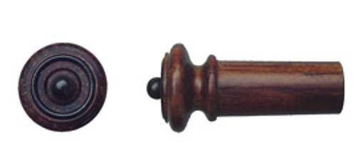 Tempel Violin Endbutton, Rosewood, black ring & button