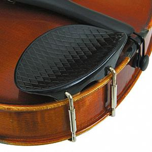 Revelle Violin Chinrest Engraved Plastic (Criss-Cross)