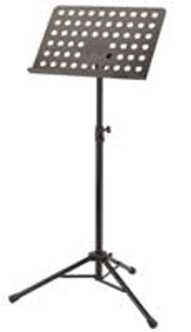 11940 Orchestra Music Stand with Collapsible Base, Perforated Steel Desk