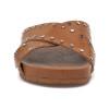 JSlides ELLIE Tan Leather