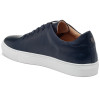 JSlides Mens DESMOND Navy Distress Leather