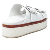 JSlides BOWIE White Leather