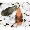 JSlides REVA Off White Camo Leather
