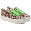 JSlides HIPPIE NEON Natural Leather/Green