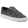 LACEE Black/Grey Embossed Leather