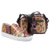 JSlides LACEE Pink Multi Embossed Leather