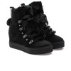 WHITNEY Black Waterproof Suede