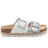 LEIGHTON White Silver Leather