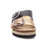 LEIGHTON Black/Gold Leather