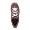 LACEE Chestnut Metallic Multi Embossed Leather