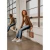 AMANDA Light Grey Leather