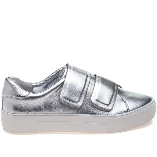 JSlides ADELYNN Silver Leather