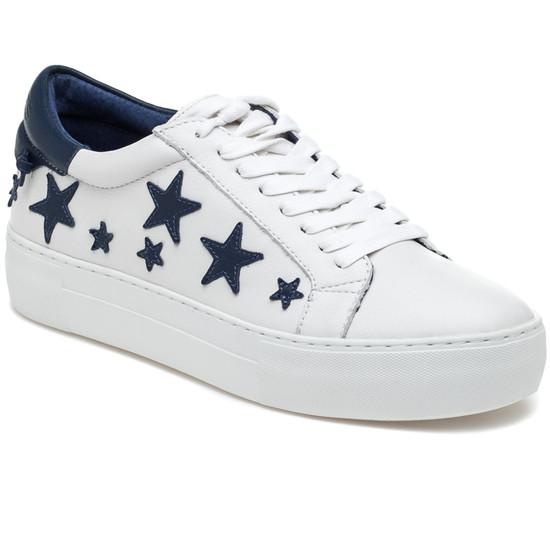 JSlides ALABAMA White & Navy Leather