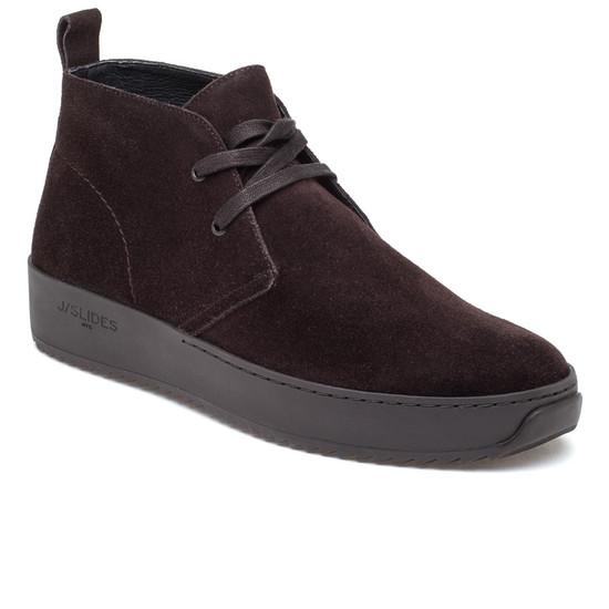 JSlides Mens SAL Brown Suede