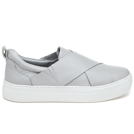 JSlides ALEC Light Grey Leather