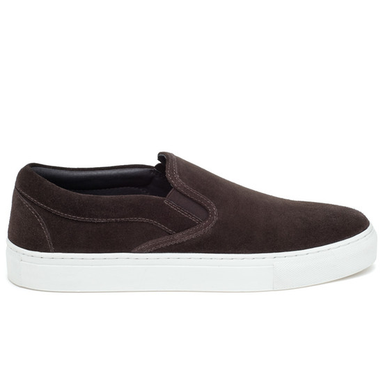 JSlides Mens DIMMI Brown Suede