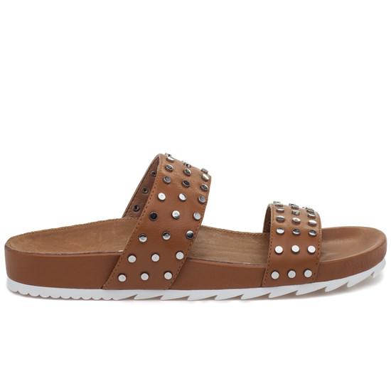 JSlides ERIKA Tan Leather