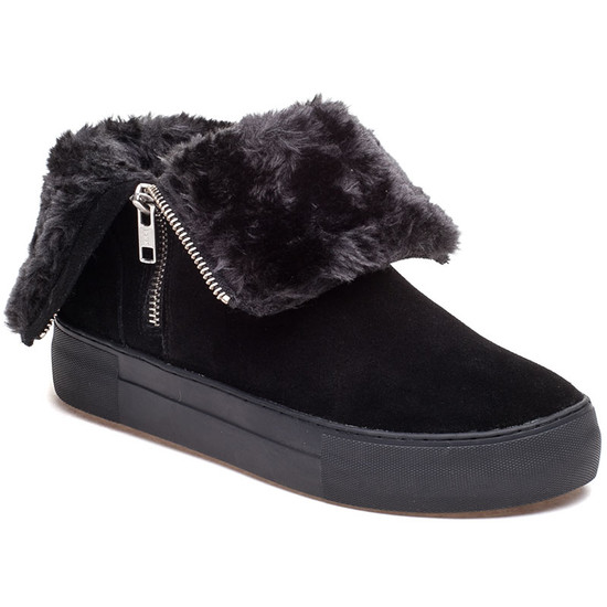 JSlides ALLIE Black Suede