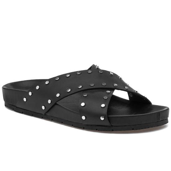 JSlides ELLIE Black Leather