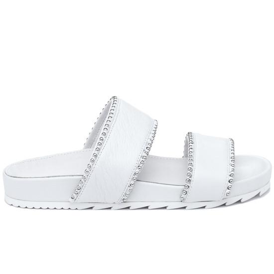 JSlides EMMIE White Leather