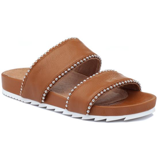 JSlides EMMIE Tan Leather