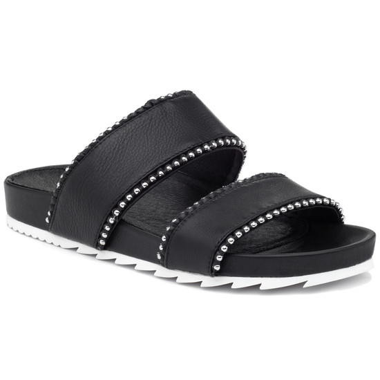JSlides EMMIE Black Leather