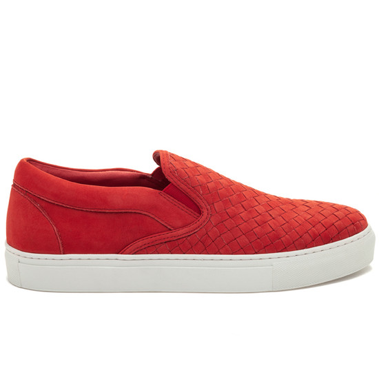 JSlides Mens DAWSON Red Nubuck