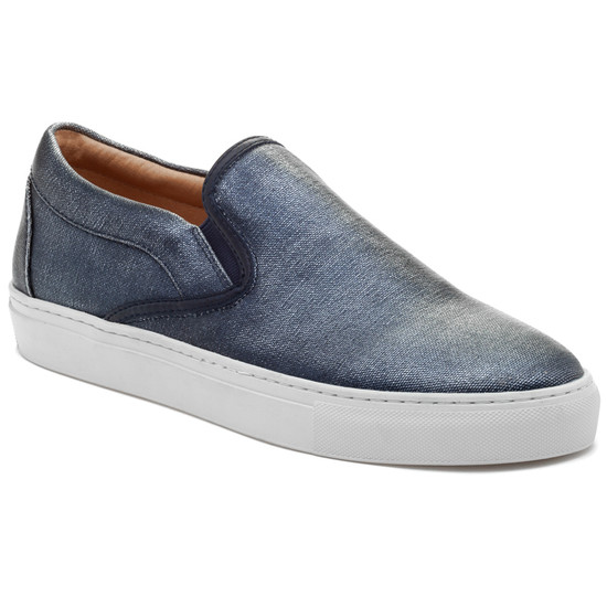 JSlides Mens DIMMI Navy Canvas