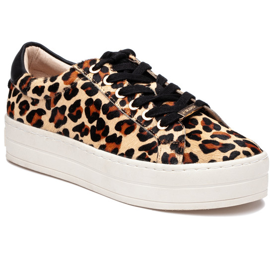 JSlides HIPPIE Leopard Pony Leather