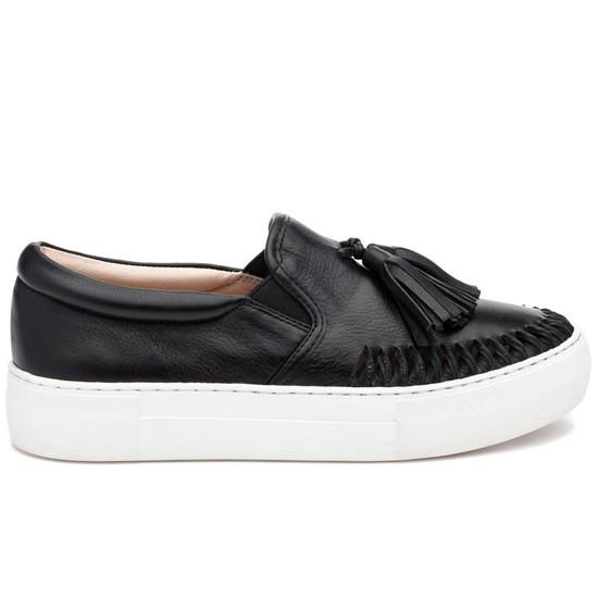 JSlides AZTEC Black Leather
