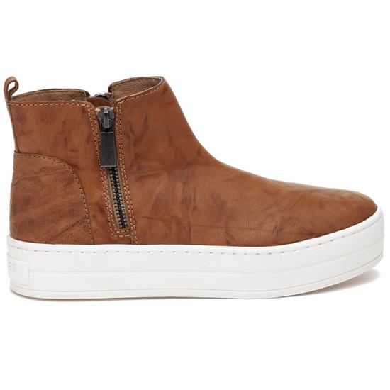 JSlides HISLE Tan Distressed Leather