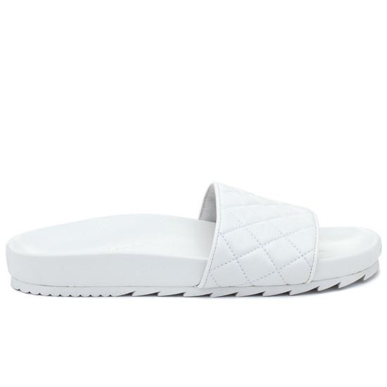 JSlides EDGE White Leather