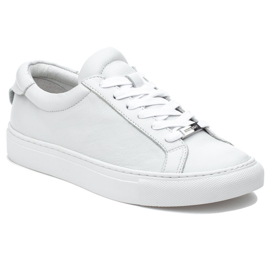 JSlides LACEE White Leather