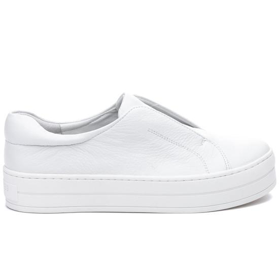 JSlides HEIDI White Leather