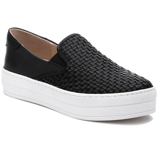 JSlides HALSEY Black Leather