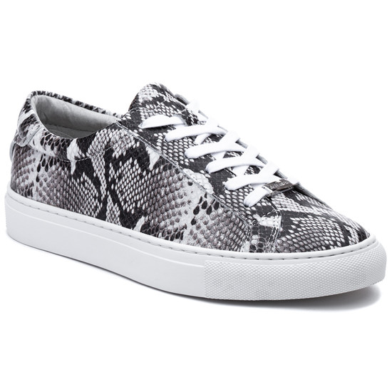 JSlides LACEE Black White Leather