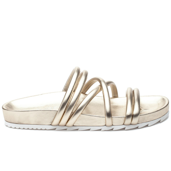 TESS Light Gold Leather
