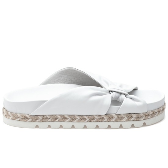 JSlides LILIA White Leather
