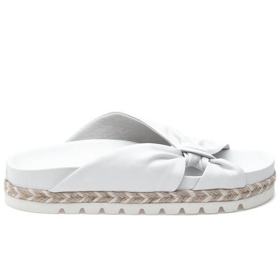JSlides LILIA White Leather
